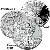images of American Eagle Silver Bullion Coins