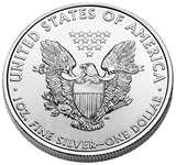 pictures of Silver American Eagles
