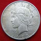 1923 Eagle Silver Dollar Coin pictures