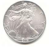 images of 2010 Silver Eagle Coin Value