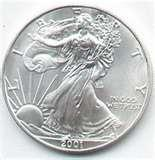 American Eagle Silver Dollar Value 2001 pictures