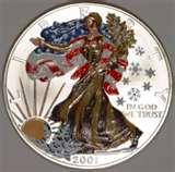 images of 2001 Silver American Eagle Coin Value