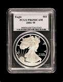 2001 Silver American Eagle Coin Value images