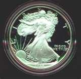 pictures of American Eagle Silver Proof Coins History