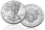 images of 2008 Silver Eagle Coin For Sale