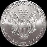images of Silver Eagle Dollars 2003