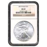 images of 2010 Silver Eagle Coin Ms69